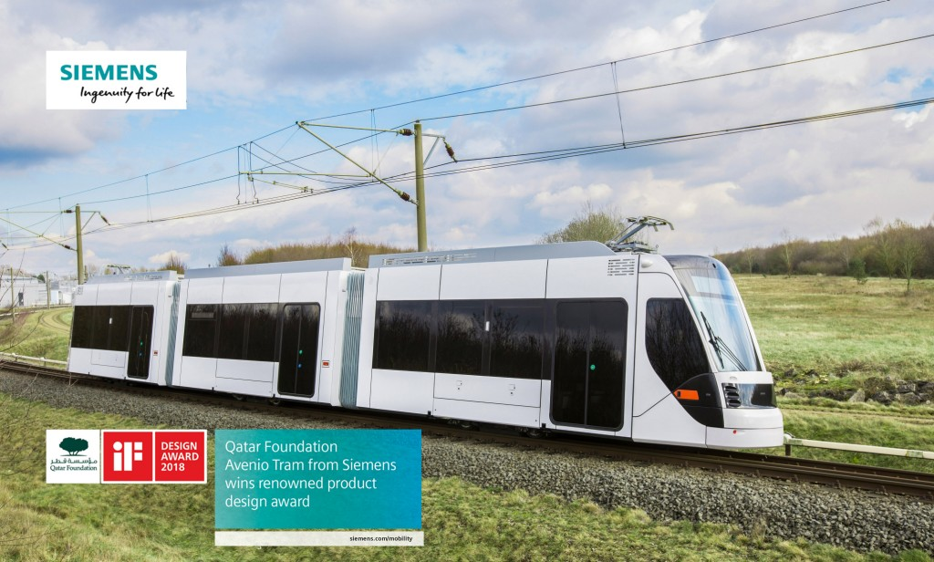 Siemens tram for Doha honored with the iF Design Award