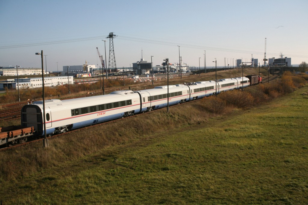 High-speed trains travel to Russia by ship