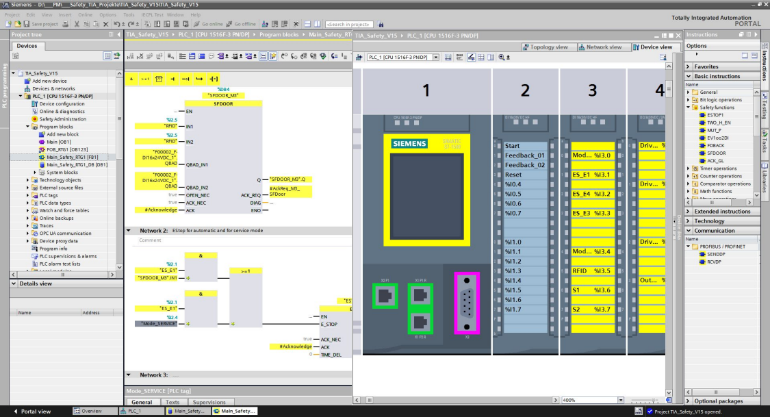 Screenshot of STEP7 Safety Engineering Software