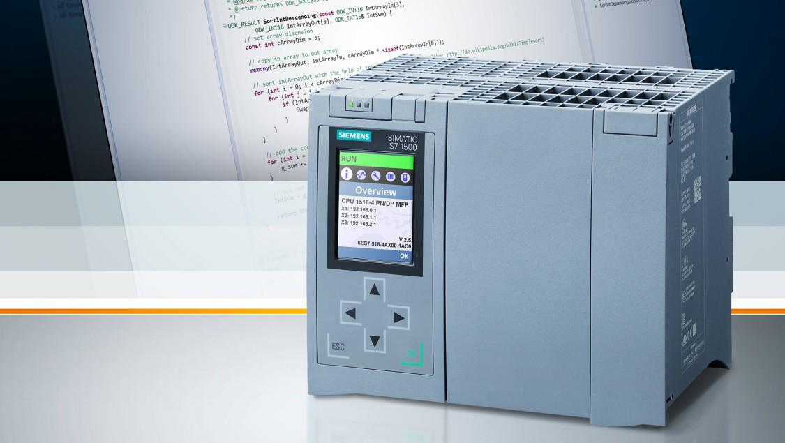 SIMATIC S7-1500 CPU 1518-4 PN/DP MFP