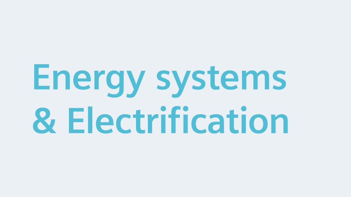 Energy systems & Electrification