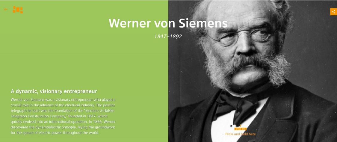 Werner von Siemens Scrollytelling