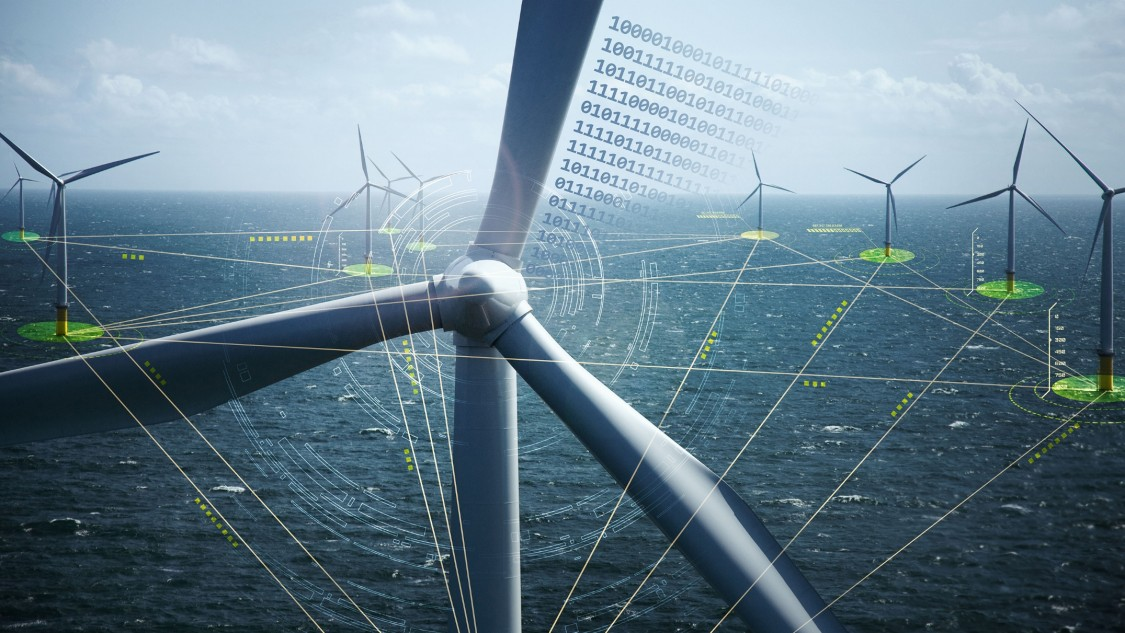 Offshore windfarm with virtual layer