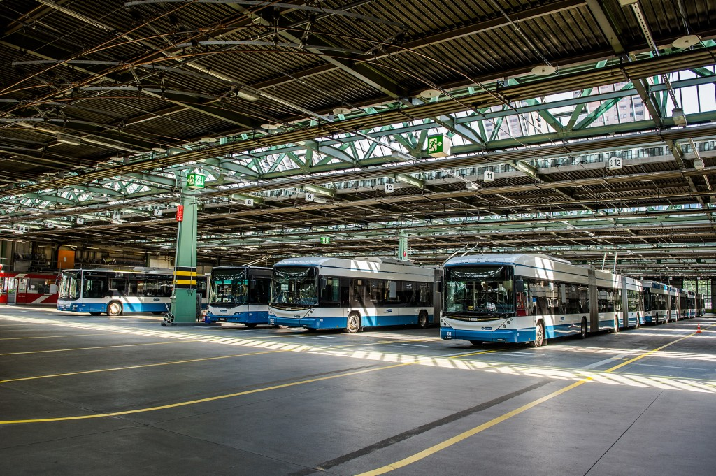 The Siemens charging infrastructure for the new VBZ eBuses will be installed in the basement of the Hardau bus garage.