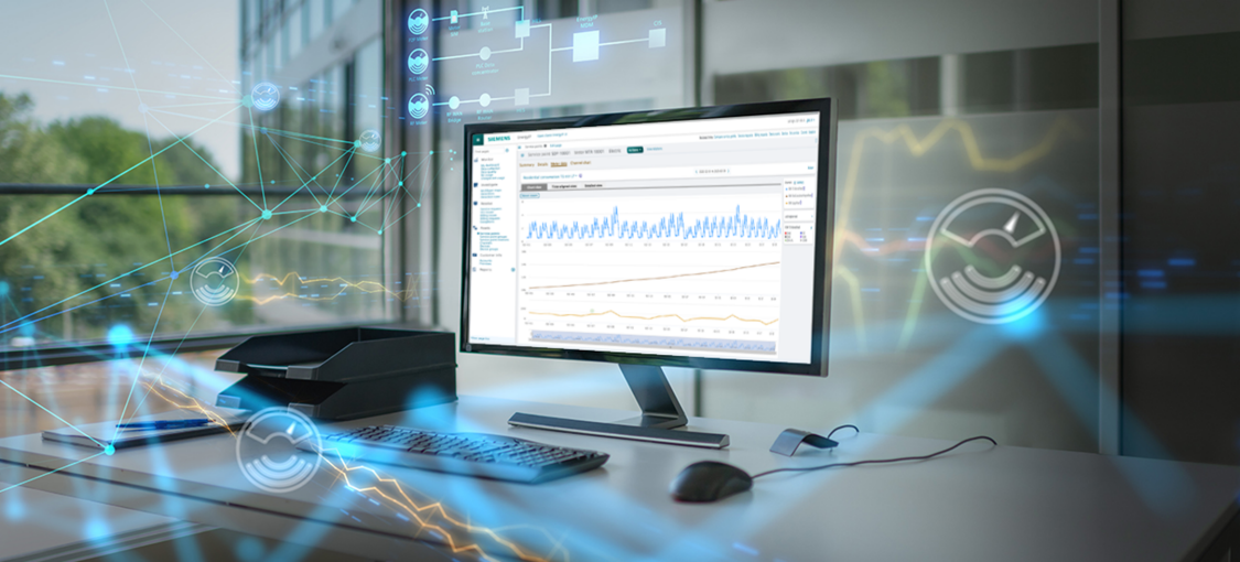 Key numbers over an image of a small town in America present an overview of the benefits this software offers small and medium sized utility companies looking to unlock the value of their smart meter data.