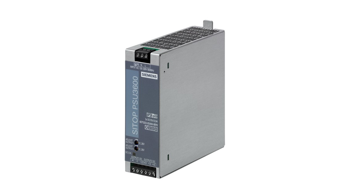 Fotografie produktu SITOP PSU3600 dual, jednofázový, 2 x 15 V/3,5 A