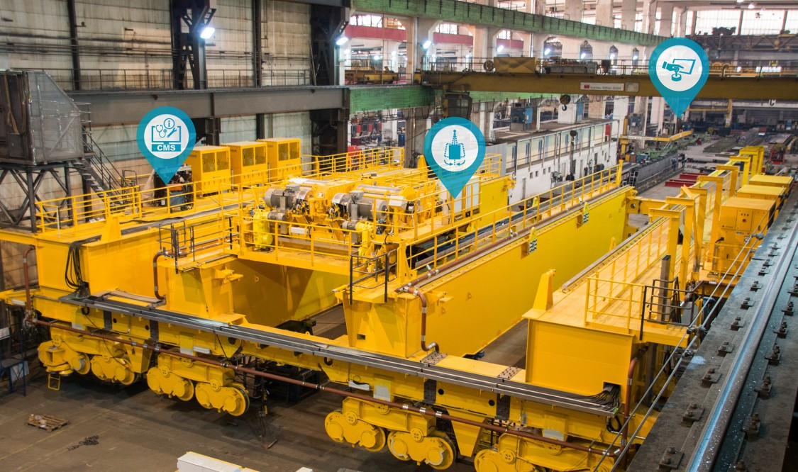 Overview of typical automation modules for industry cranes