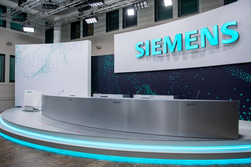The 55th Annual Shareholders' Meeting of Siemens AG is being held in a virtual format at Siemens headquarters in Munich on February 3, 2021.