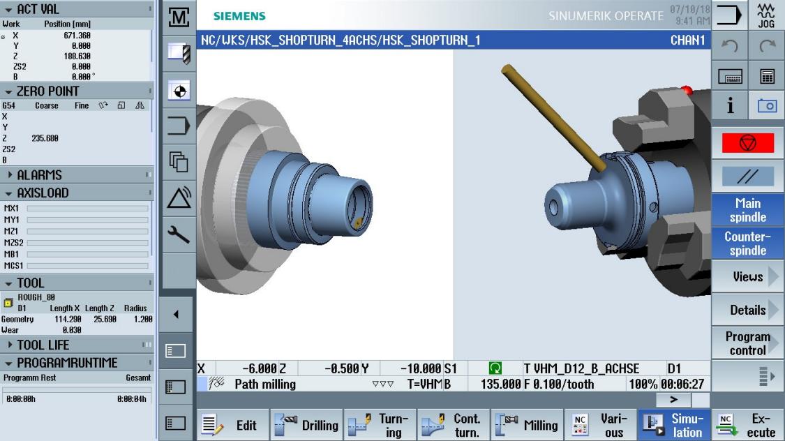 cnc multitasking - simulation