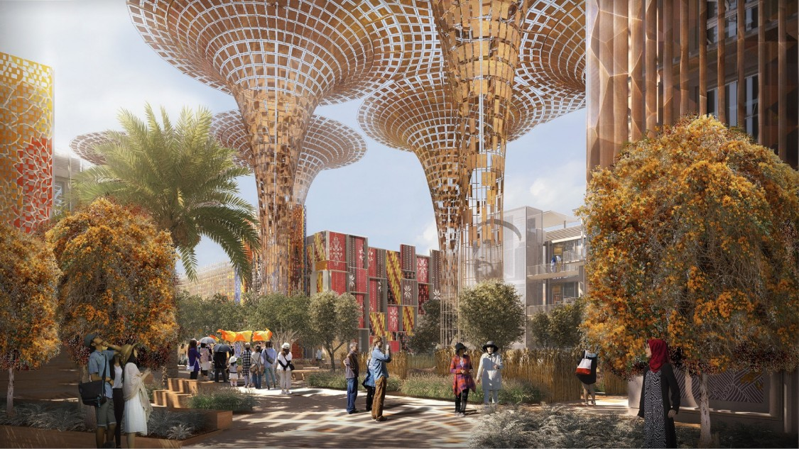 Visualization of buildings at Expo 2020 Dubai