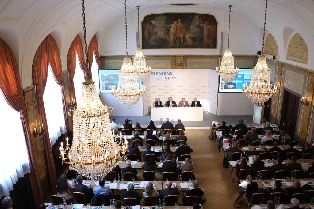 Siemens Pressekonferenz im Vorfeld der Hannover Messe 2016