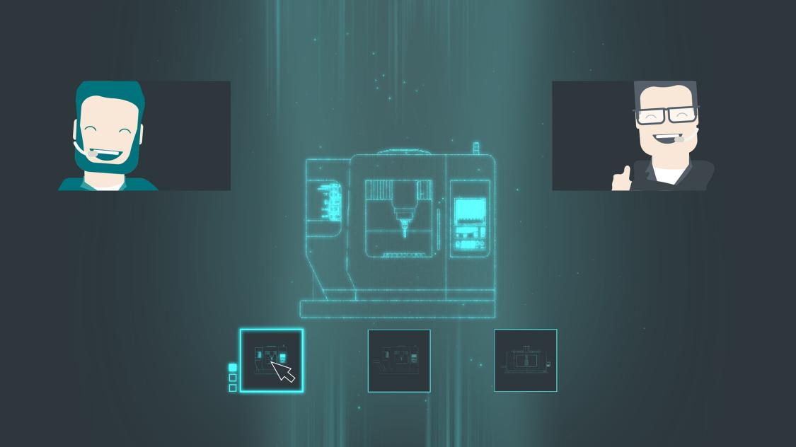 Grafik von einem virtuellen Showroom.
