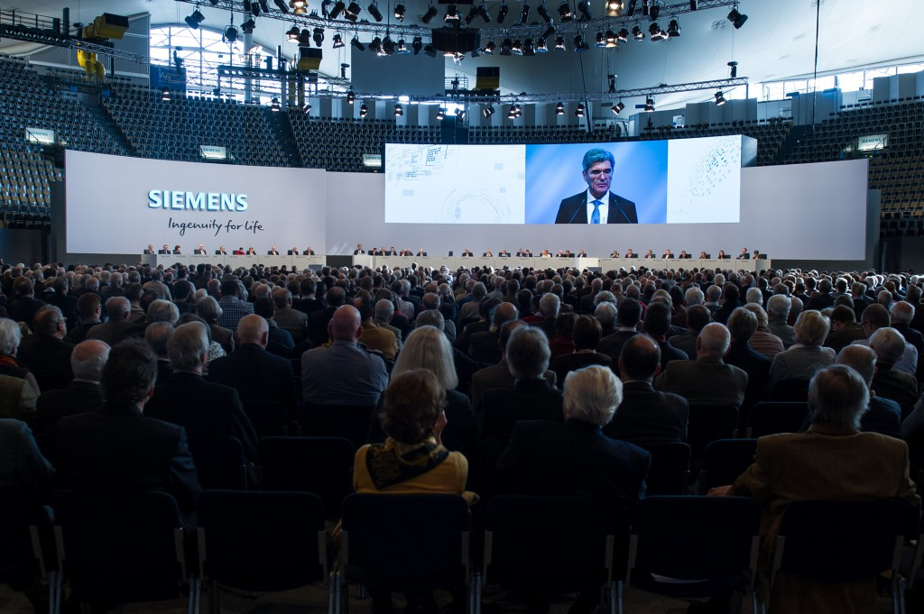 Annual Shareholders' Meeting of Siemens AG at the Olympiahalle in Munich, Germany