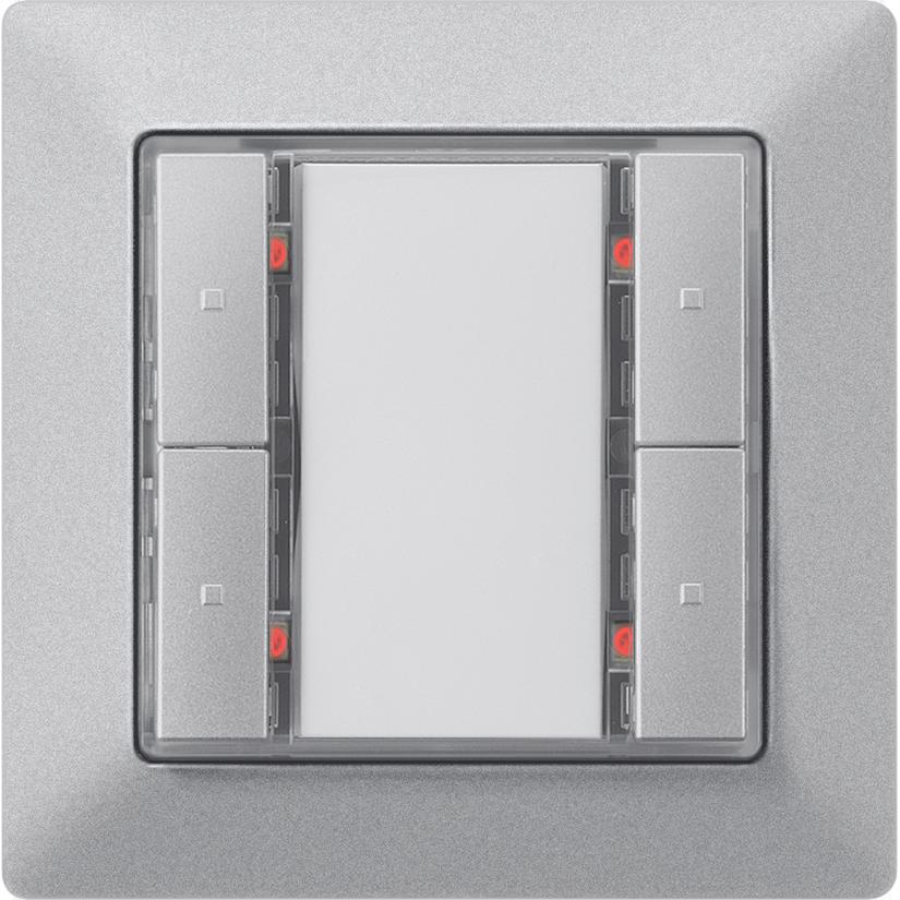 Кнопка GAMMA instabus – алюминиевый металик
