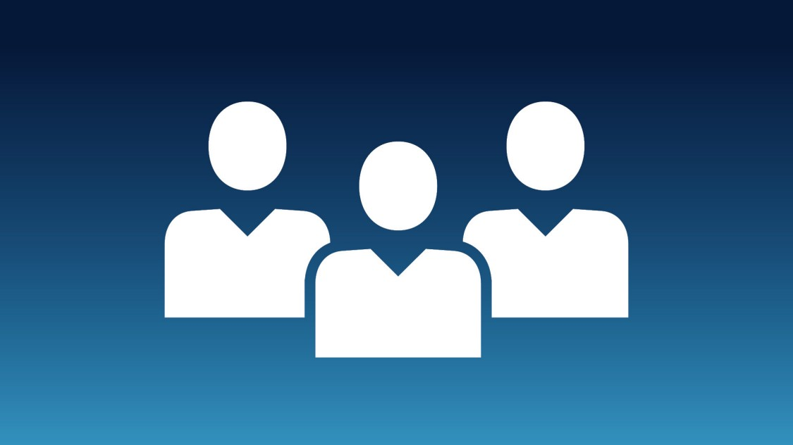 Icon showing three people outline