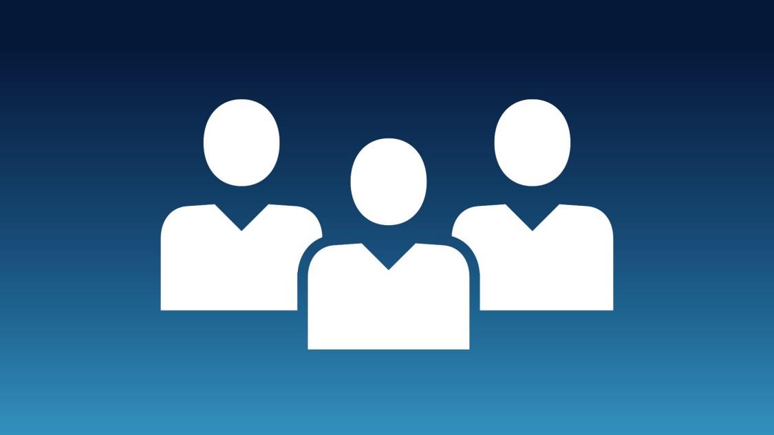 Icon, das drei Personenumrisse zeigt