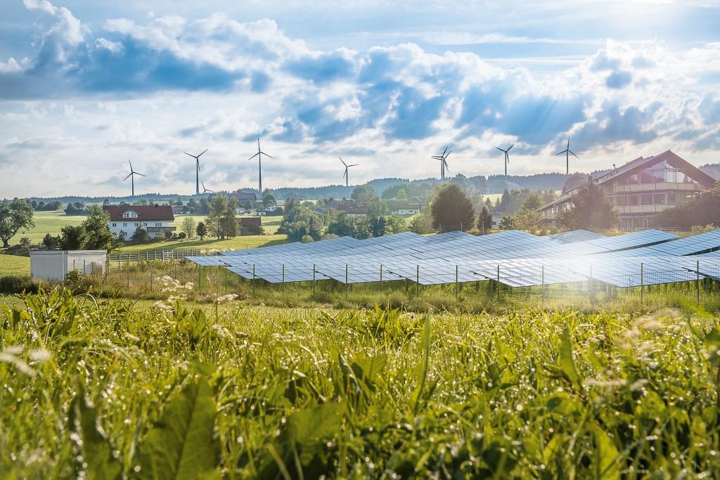 Das Bild zeigt Wildpoldsried, dem Ort der beiden Smart-Grid-Forschungsprojekte IRENE und IREN2