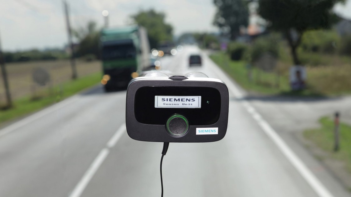 On Board Unit for tolling in front of a street