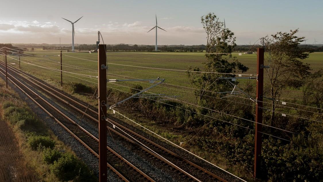 Danish rail tracks