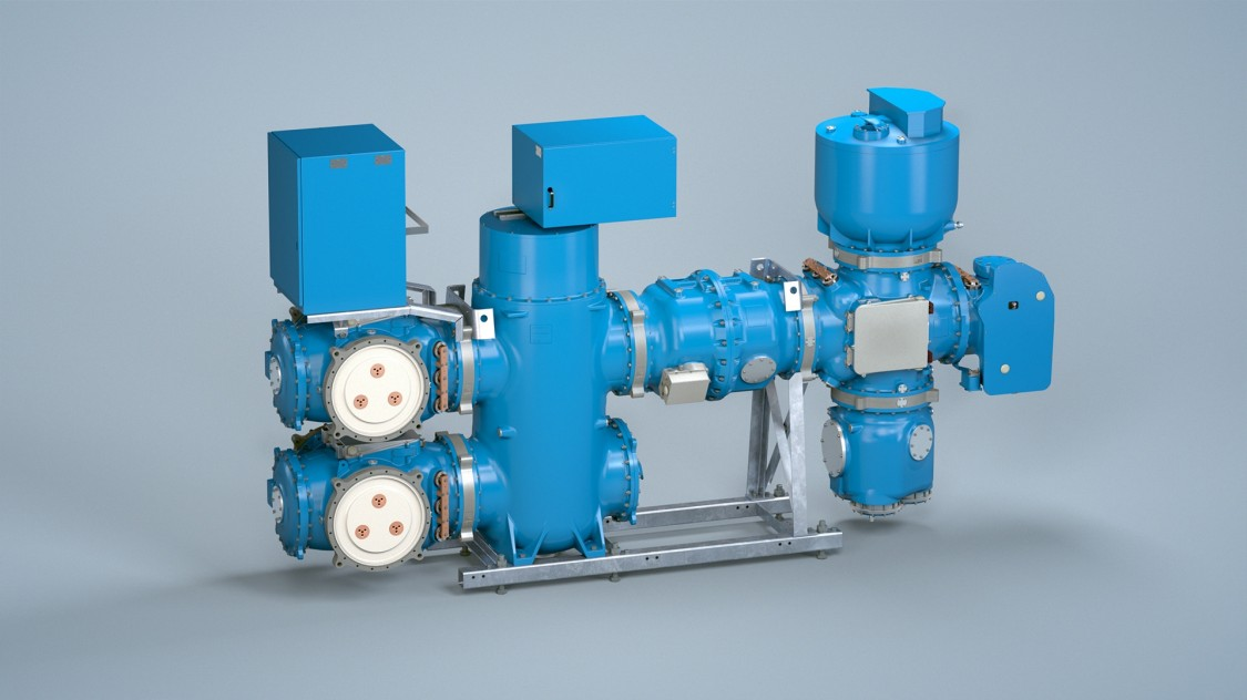«Голубое» распределительное устройство с газовой изоляцией 8VN1 для напряжения до 145 кВ