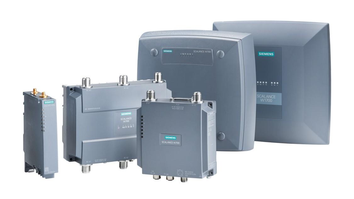 Portfolio produktů bezdrátové komunikace s průmyslovou bezdrátovou sítí IWLAN SCALANCE W