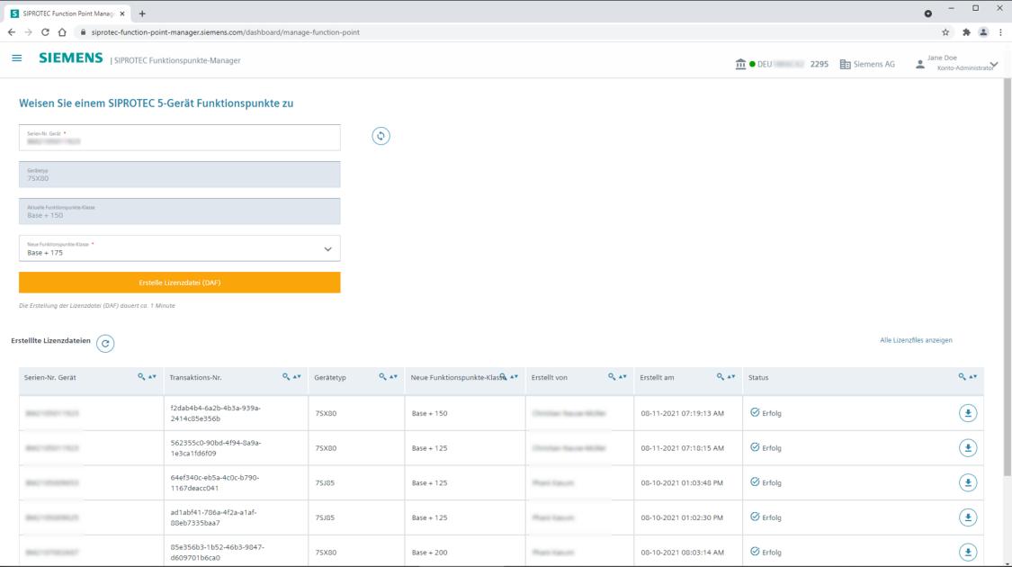 SIPROTEC Functionspunkte-Manager - Funktionspunkte zuweisen