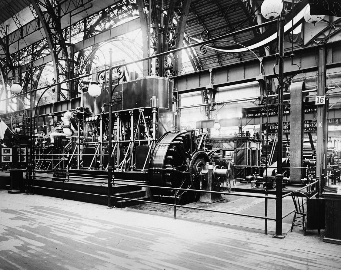 1.000-PS-Innenpolmaschine zur Beleuchtung der Ausstellungsräume, 1893
