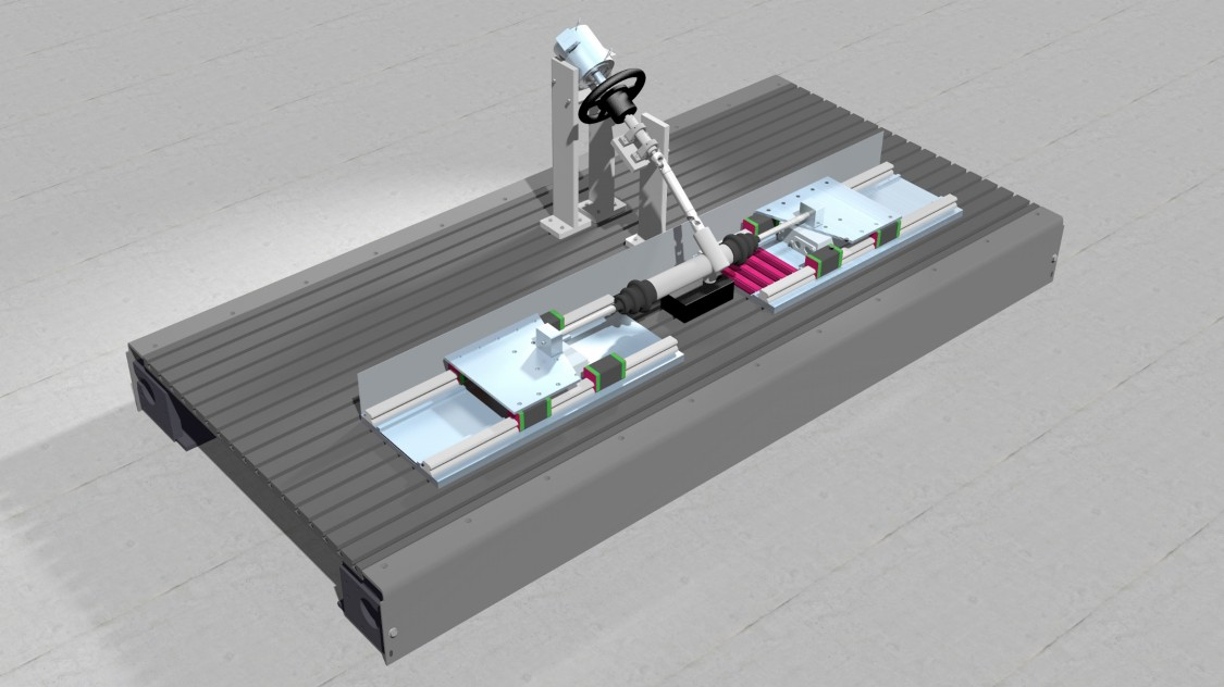 Visualization linear motor test stand