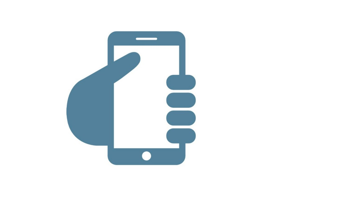 Call us icon - hand holding smart phone