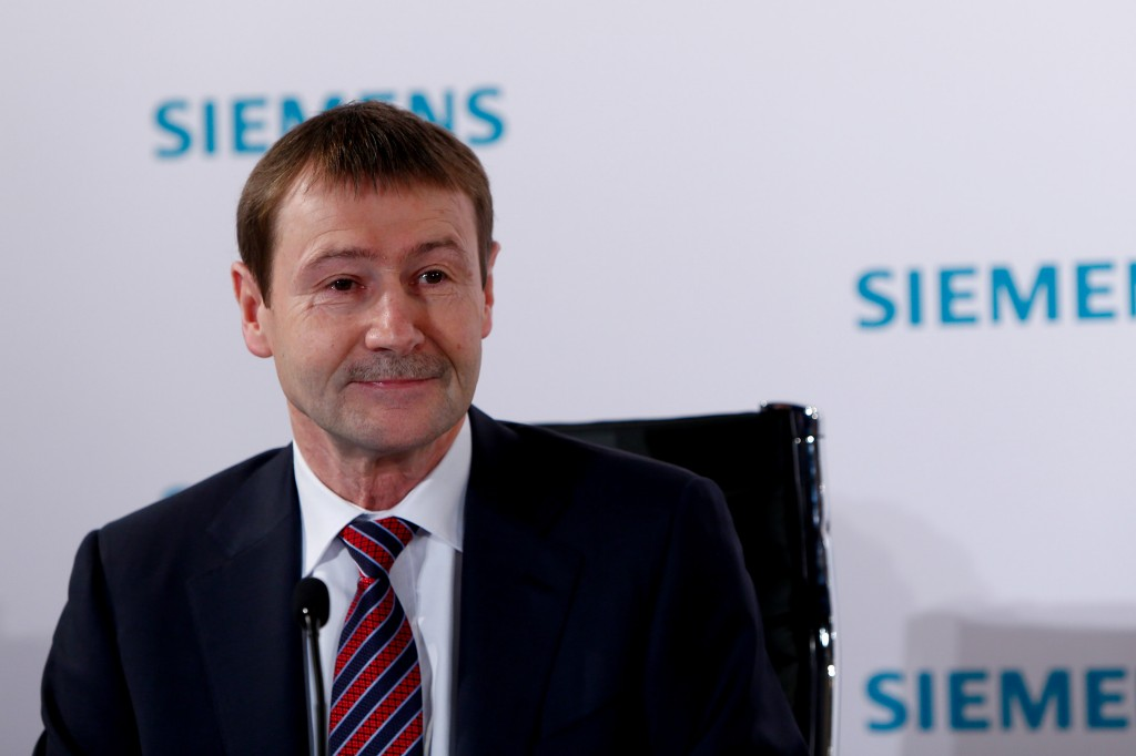 Klaus Helmrich, member of the Managing Board of Siemens AG, reporting at the press conference on the further development of MindSphere - Siemens' cloud-based, open Internet of Things (IoT) operating system - and of the company's Digital Enterprise offerings.