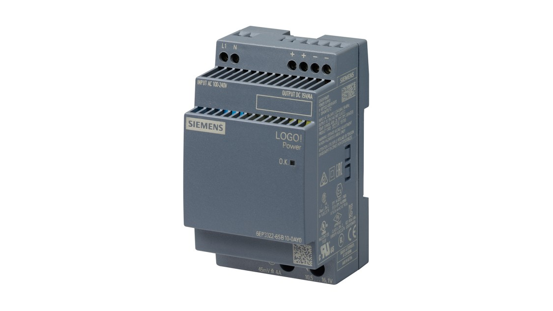 Product image LOGO!Power, 1-phase, 15 V/4 A