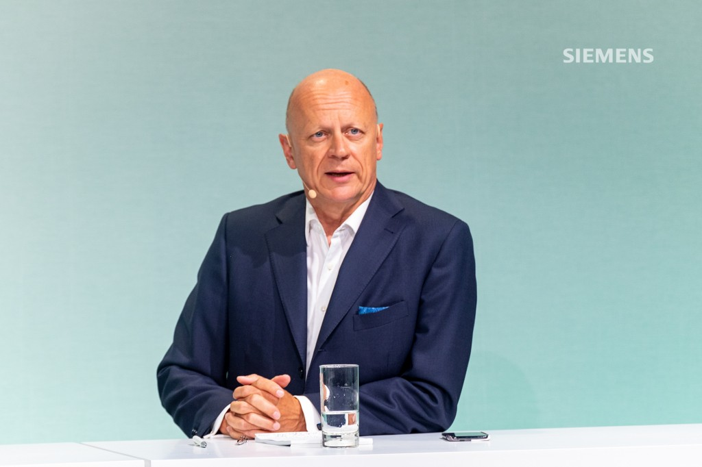 Siemens AG's Capital Market Day on June 24, 2021, at the company's headquarters in Munich: All Siemens AG Managing Board members answering analysts' questions at the close of the event. Pictured here: Ralf P. Thomas, Chief Financial Officer