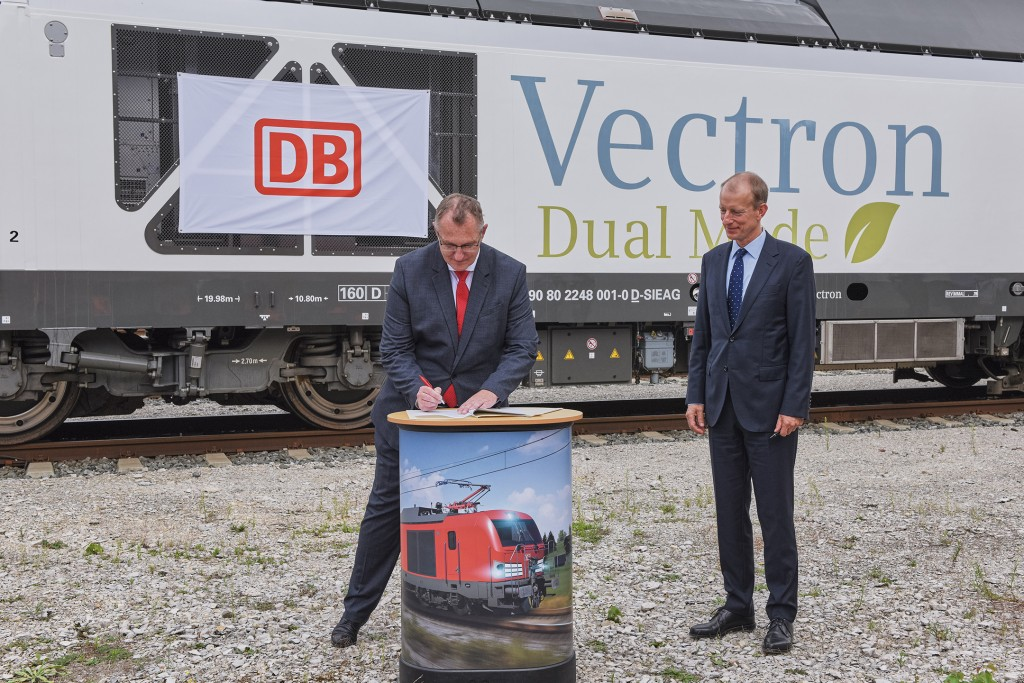 DB Cargo and Siemens Mobility conclude framework agreement for 400 Vectron dual-mode locomotives
