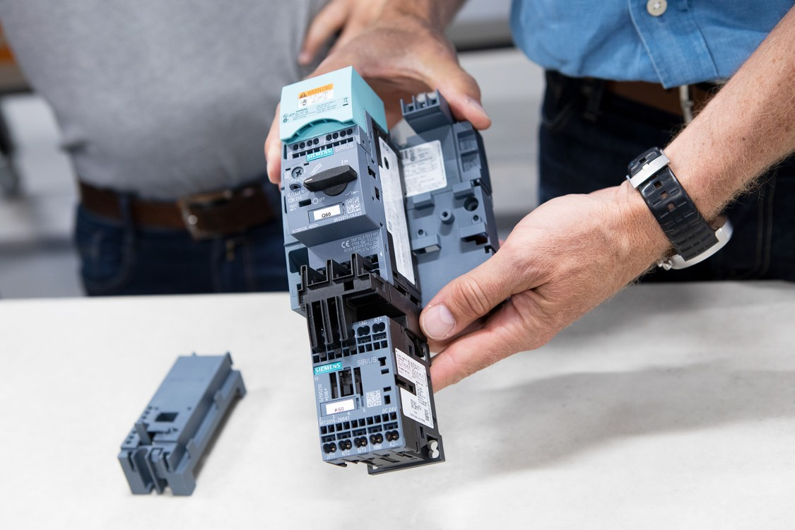 Motorskydd och kontaktor inom Sirius Innovations: Sirius 3RV2 och 3RT2.