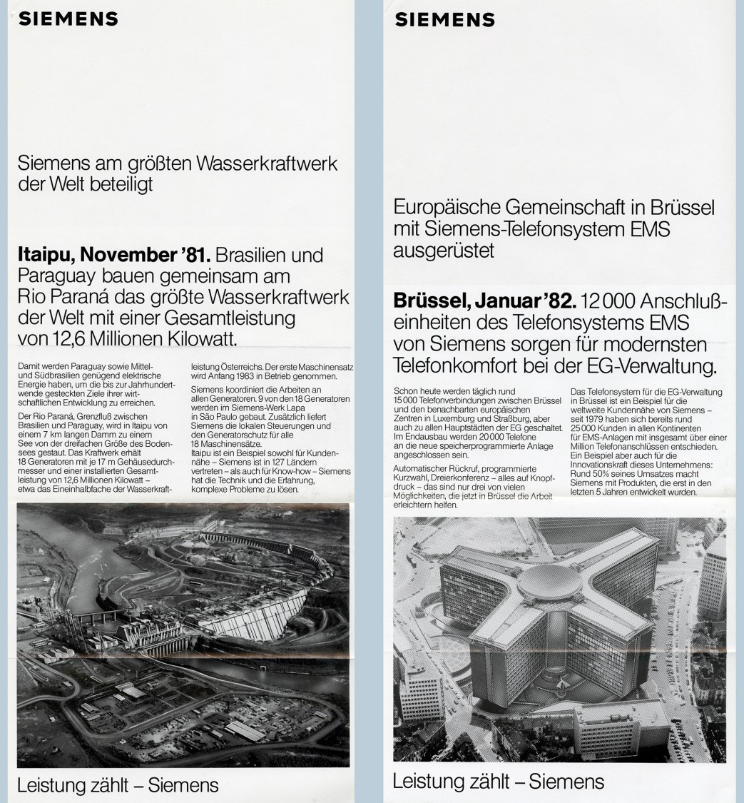 "Kampagnenmotive ""Leistung zählt"", 1981/82"