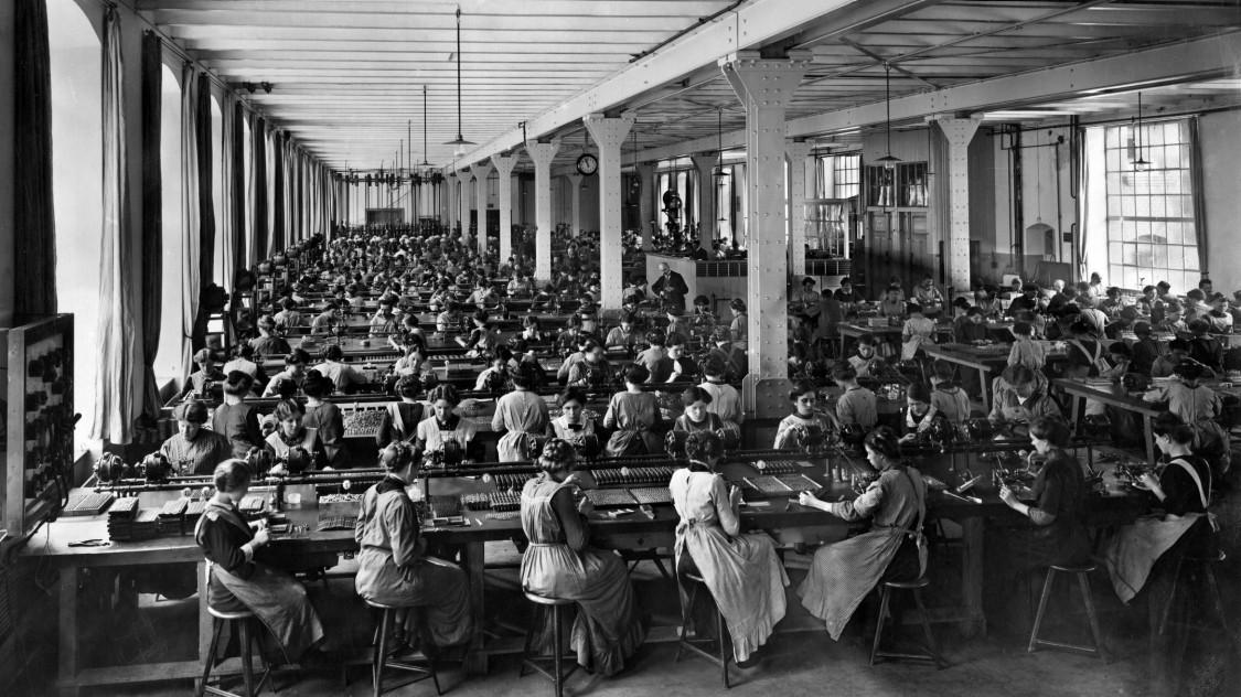Produktion im Nürnberger Werk, 1912