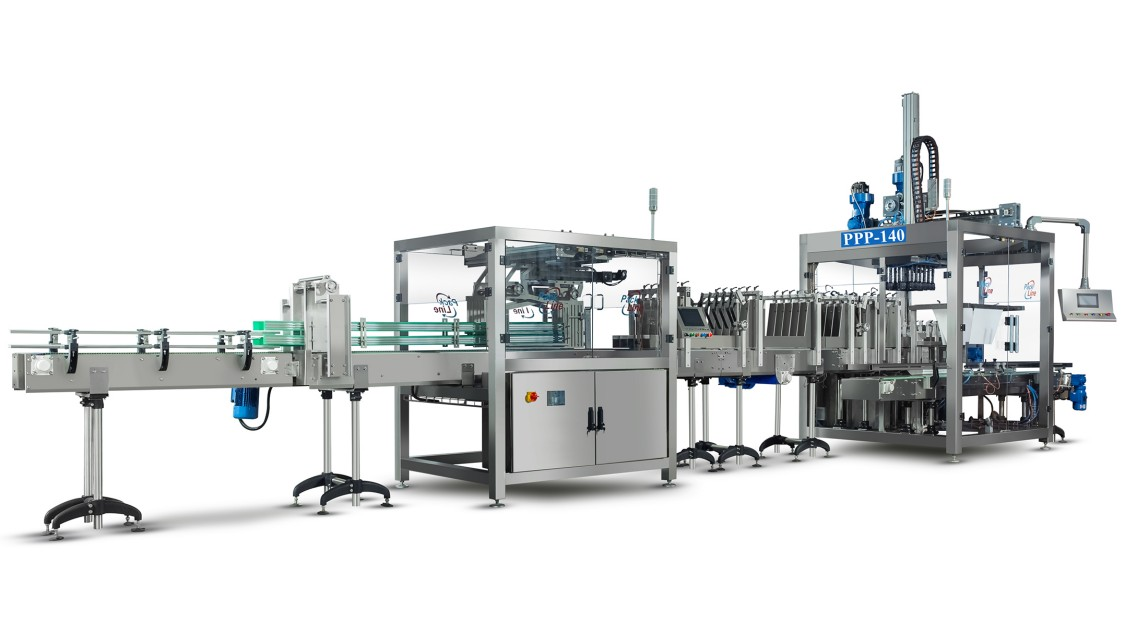 This picture shows a End-of-Line packaging machine from MAS Systech Private Limted.