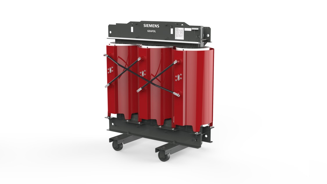Distribution cast-resin transformer