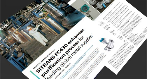 USA   FC430 coriolis flow case study - metal supplier