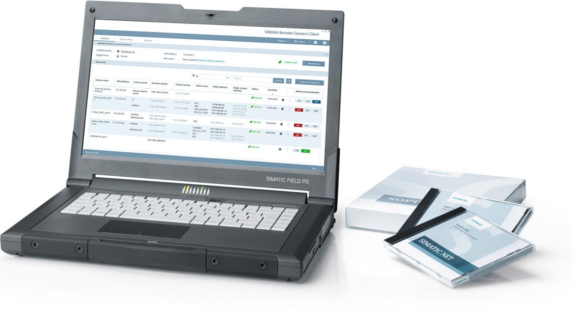Bild eines Laptops mit SINEMA Remote Connect