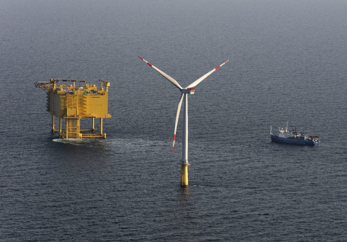 SylWin alpha offshore converter platform, North Sea, Germany