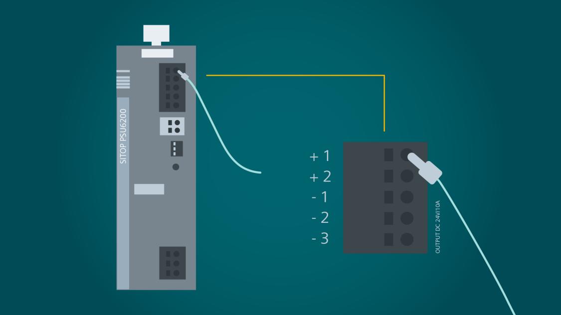 Fast, error-free wiring with SITOP PSU6200