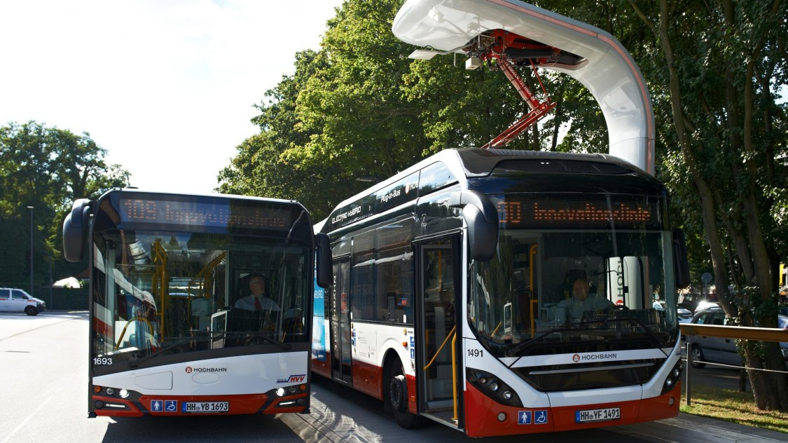 El-busser har været i drift siden 2016 i Hamborg