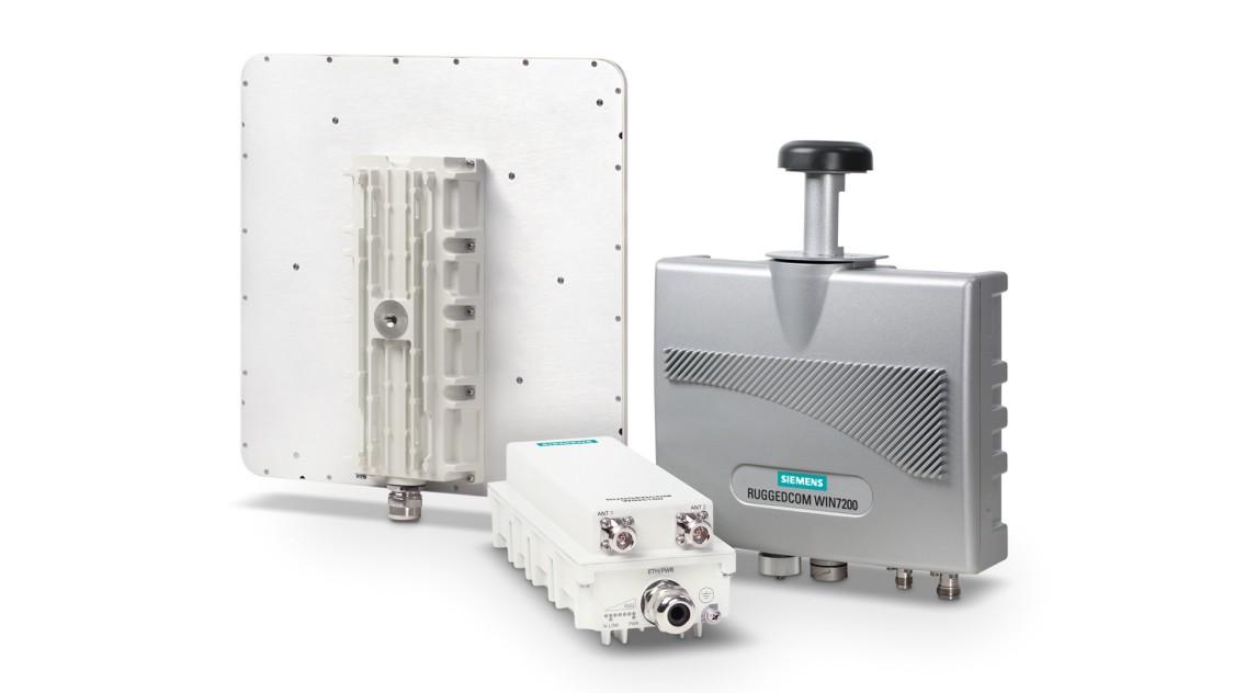 Produktabbildung von RUGGEDCOM WIN- Basisstationen und -Subscriber Units für private Wireless-Breitband-Netzwerke