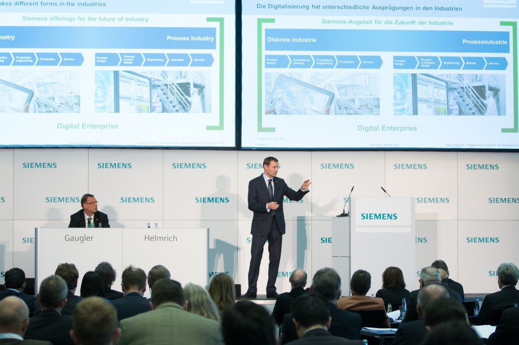 Press conference - Siemens at the Hannover Messe 2015