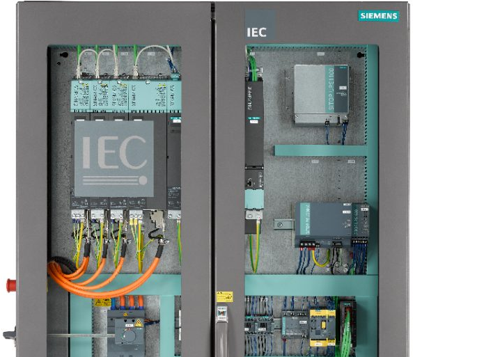 Detail of a control panel with IEC-logo