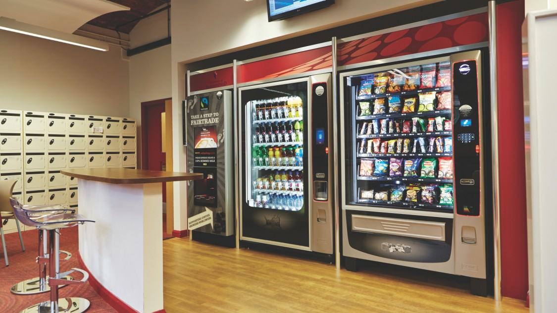 Vending machines in entrance hall