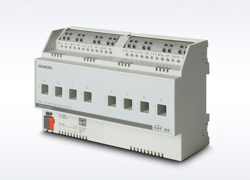 The Siemens Building Technologies Division has updated its GAMMA instabus product line with new switching actuators