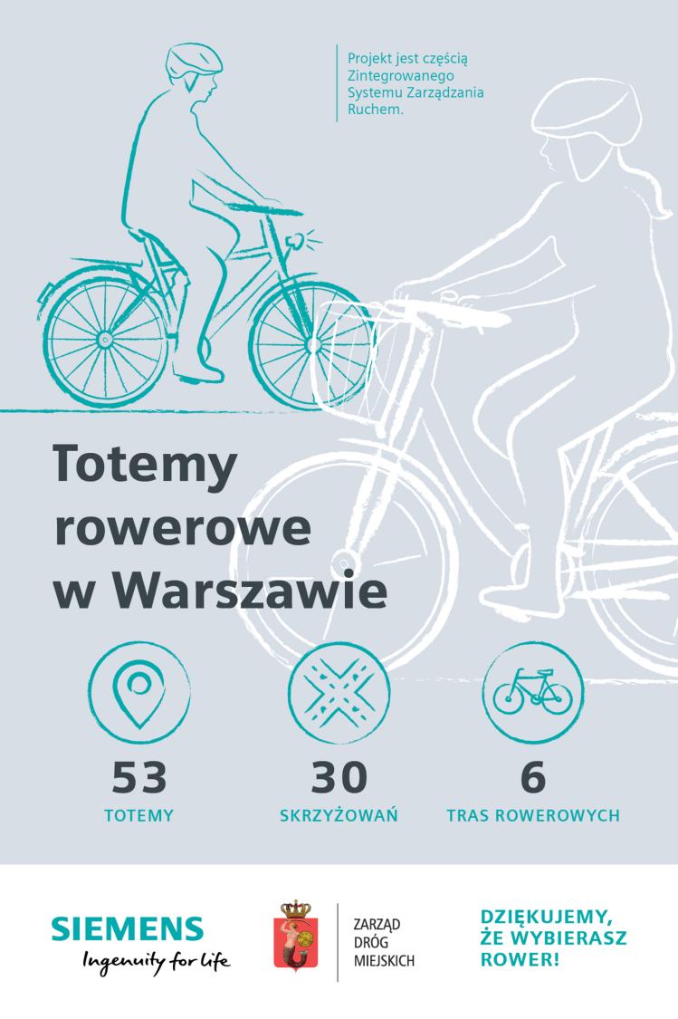 Totemy rowerowe w Warszawie