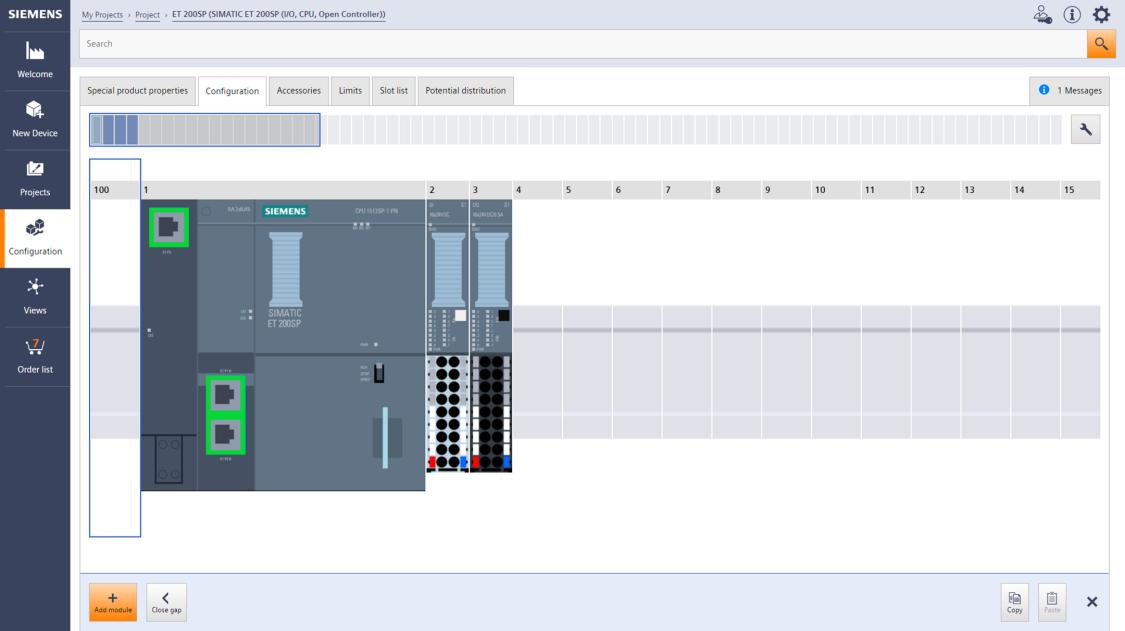 Siemens TIA Selection Tool